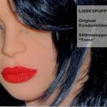 Tania mit roten Lippen